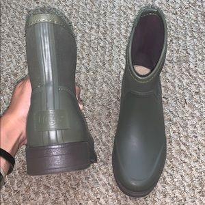 Army Green Ugg Rain Boots (and socks)